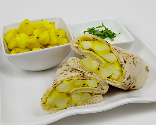Potato wrap with raita